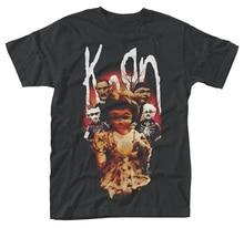 цена Logo T Shirts 100% Cotton Korn 'Dolls' Crew Neck Short Sleeve Mens Tee онлайн в 2017 году