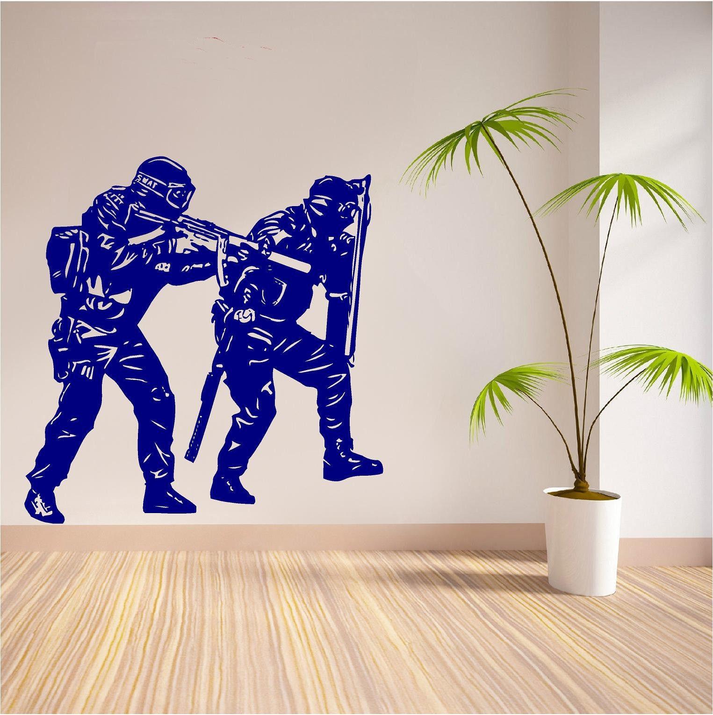 Obtenir en ligne  bon marché Police Stickers Muraux Aliexpress