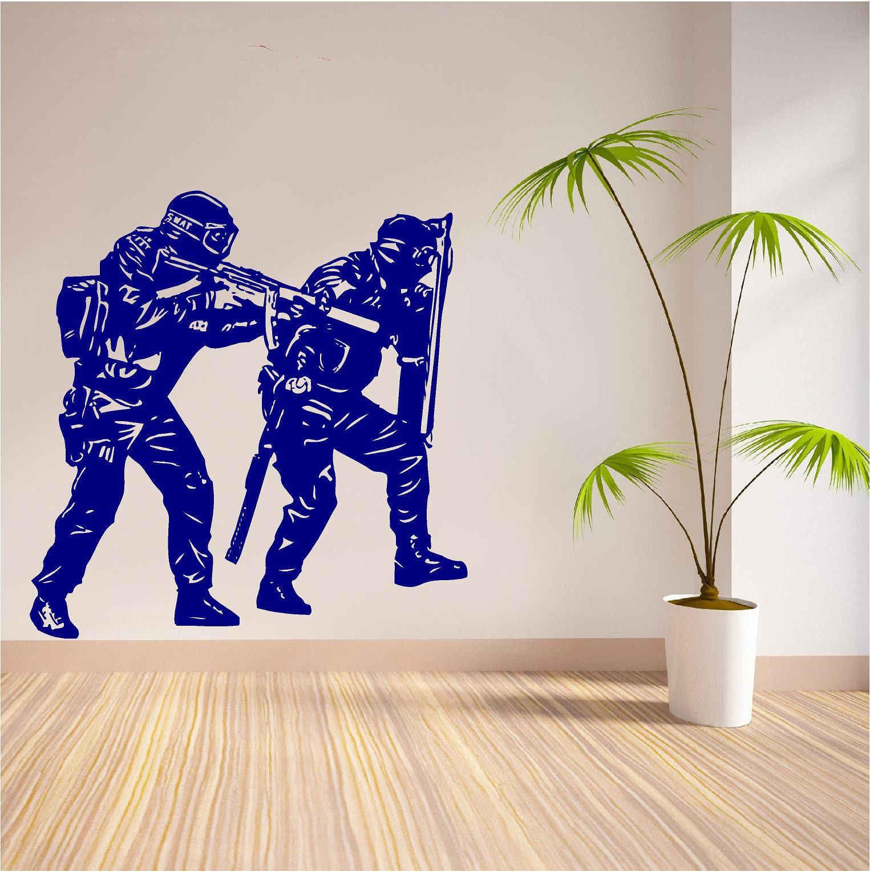 Armée Mur Citations militaires marines patriotique Autocollant Garçons Chambre à Coucher Art Autocollant Vinyle