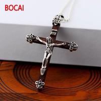 Black 925 sterling silver wholesale Jesus Cross Pendant