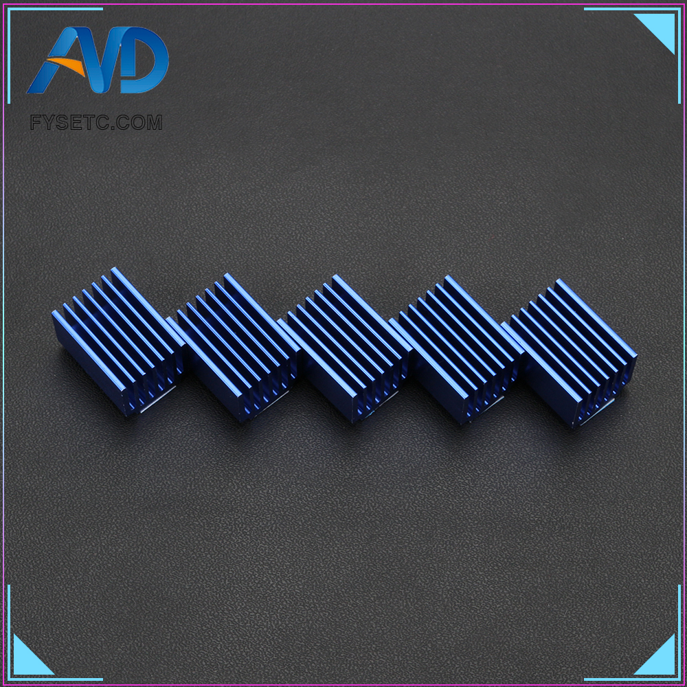 5pcs Big Blue Aluminum Driver Heat Sink Cooling Block Heatsink For FYSETC TMC2100 TMC2208 V1.2 TMC2130 V1.0 V1.1 Stepper Motor5pcs Big Blue Aluminum Driver Heat Sink Cooling Block Heatsink For FYSETC TMC2100 TMC2208 V1.2 TMC2130 V1.0 V1.1 Stepper Motor