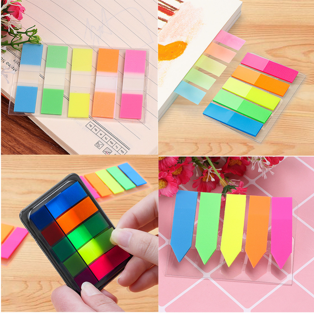 100pcs Label Paper Index Memo Pad N Times Sticky Note Bookmark Sticker School Stationary Supplies все цены