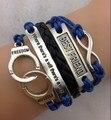 3 pcs pulseira infinity, Melhor amigo, Algemas onde há uma vontade há um caminho pulseira de couro 1429 Min encomendar 10 $