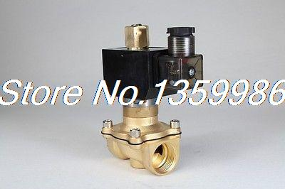 Normal Open 2way2position 220V AC 3/4 Electric Solenoid Valve Water Air N/O 1piece 2w 250 25k 220v ac 1 electric solenoid valve water air n o no normal open brand new