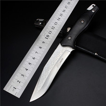 2016 Real Knives Outdoor Self-defense Field High Hardness Saber Wilderness Survival Fruit Knife Small Straight Folding Etched