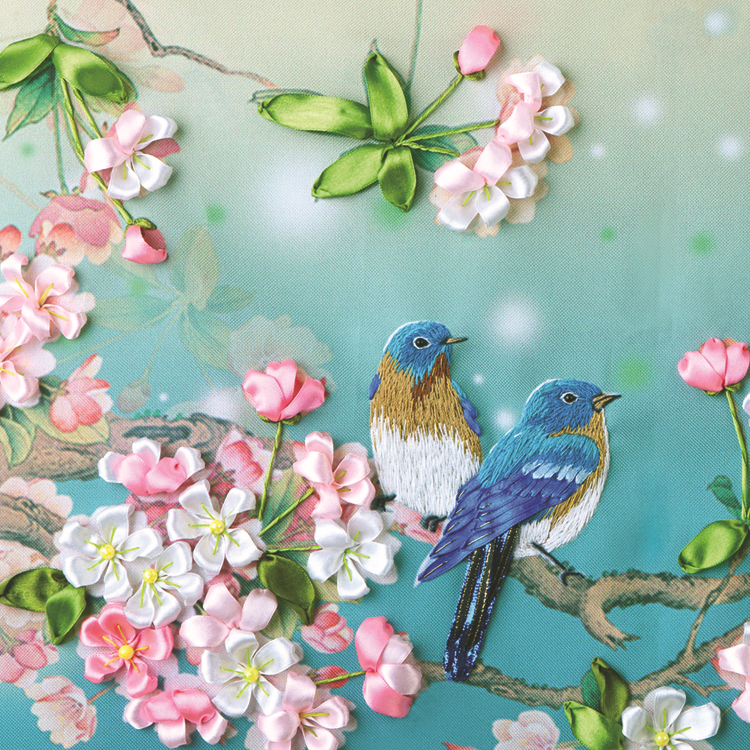 Silk Ribbon Embroidery Kits The Sitting Roomdecorative Flowers 3 D