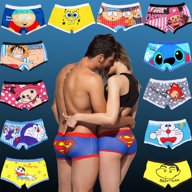 Boy and Girl Lovers Funny Printed Underwear