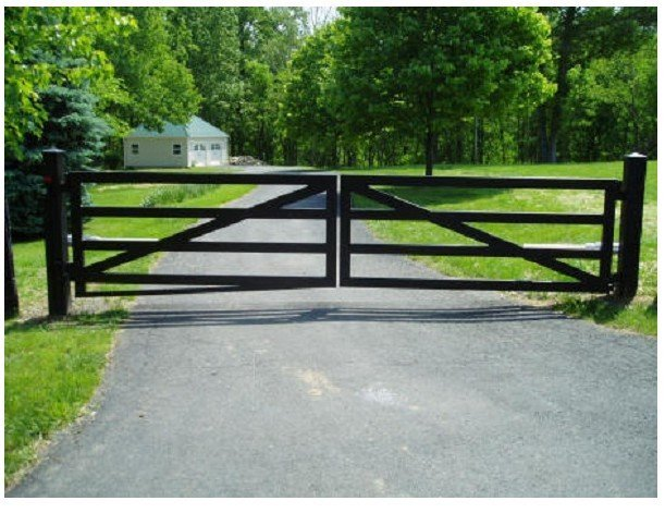 Gate driveway gates in from home improvement on