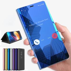 Image 1 - Mirror Flip Case For Samsung Galaxy A30 A70 A40 Smart Book Cover for Samsung A50 a20e A 30 40 50 70 50a 30a 70a 2019 stand Funda