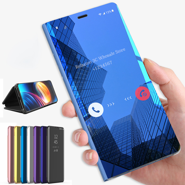 Mirror Flip Case For Samsung Galaxy A30 A70 A40 Smart Book Cover for Samsung A50 a20e A 30 40 50 70 50a 30a 70a 2019 stand Funda