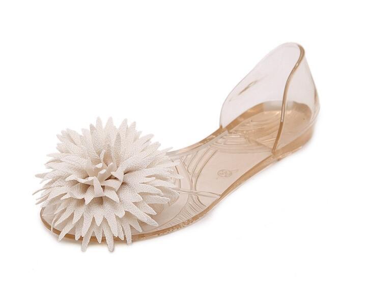 Sandales 40 Noir Beyarne Bouche Transparent Cristal Plage Mode Étudiant Poissons Gelée 33 blanc Pluie Chaussures Femme or Fleur Lady D'été Appartements TBBpqZ