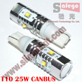 Hot selling canbus t10 led CREE XBD Canbus 25W T10 W5W canbus led car wedge light bulb t10 canbus cree 10 pcs