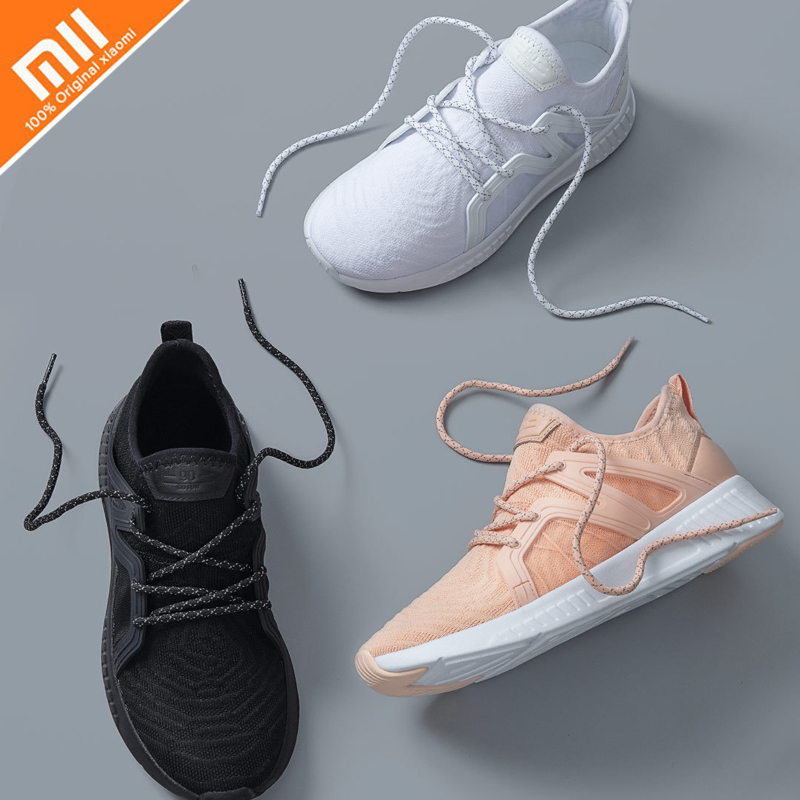 все цены на Original xiaomi mijia 90-piece Siamese sneakers, men's and women's sports shoes surrounded by TPU and high-quality leather онлайн