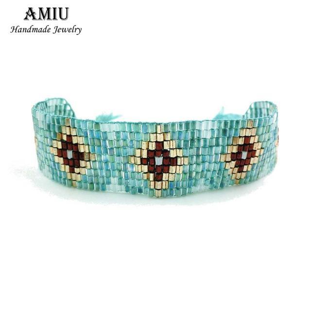 AMIU Bracelet Hippy Glass...