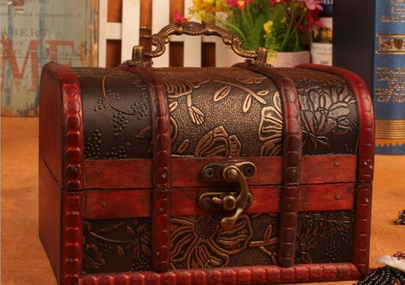 Zakka antique big wooden storage box ,candy box ,Jewelry Box,gift box, Shooting props,European style gift box12cm*8cm*6cm