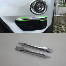 Car Accessories Exterior Decoration ABS Chrome Front Fog Lamp Light Eyebrow Cover Trim For BMW X1 2016 Car Styling accessories! car accessories exterior decoration abs chrome rear fog light fog lamp cover trim for kia k2 rio 2017 car styling