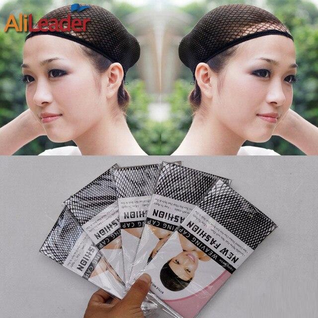 Alileader Top Sale Hairnets Good Quality Mesh Weaving Black Wig Hair Net Making Caps Weaving Wig Cap  Hairnets 20-50Pcs/Lot 1