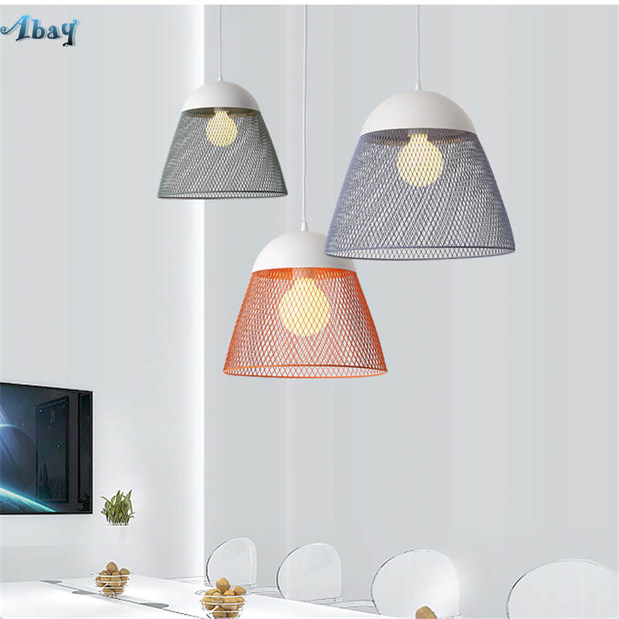 postmodern Minimalism Iron net bullet pendant lights nordic living room kitchen hanging lamp home deco colorful light fixturespostmodern Minimalism Iron net bullet pendant lights nordic living room kitchen hanging lamp home deco colorful light fixtures