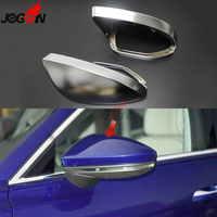 2PC Matte Silver For Audi A6 C8 Type 4K A7 4K8 A8 D5 2019 2020 Side Wing Rear View Mirror Cover Replacement Caps Shell