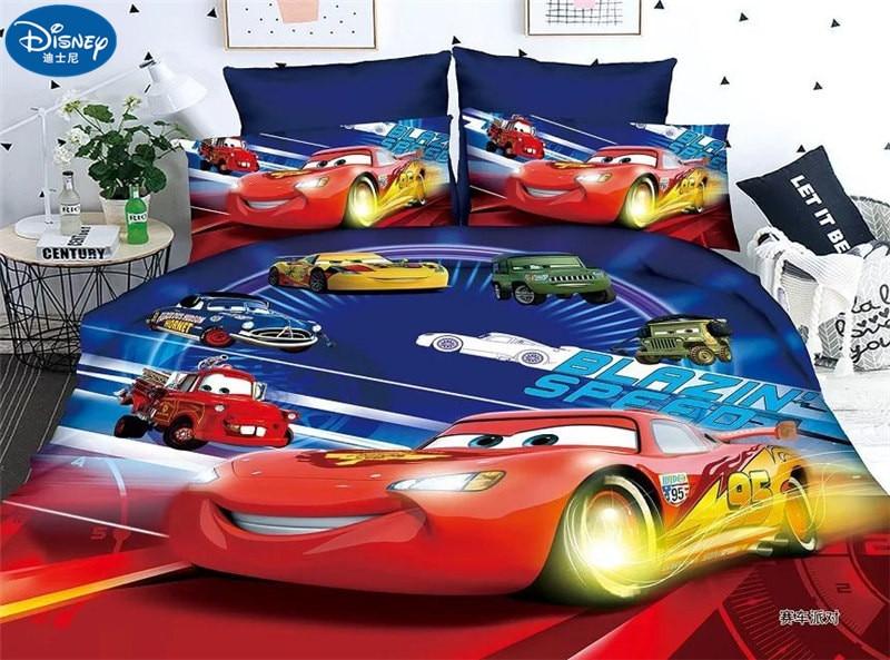 Duvet Cover Pillowcase Single Cotton Disney Cars McQueen 95. Bedding 2 Piece Lot