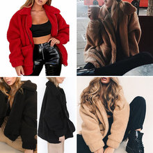 Silver Zipper Lapel Sweatshirt Fleece Fur Coat Women Autumn Winter Warm Soft Jacket Thick Plush Overcoat Short Tops Outerwear