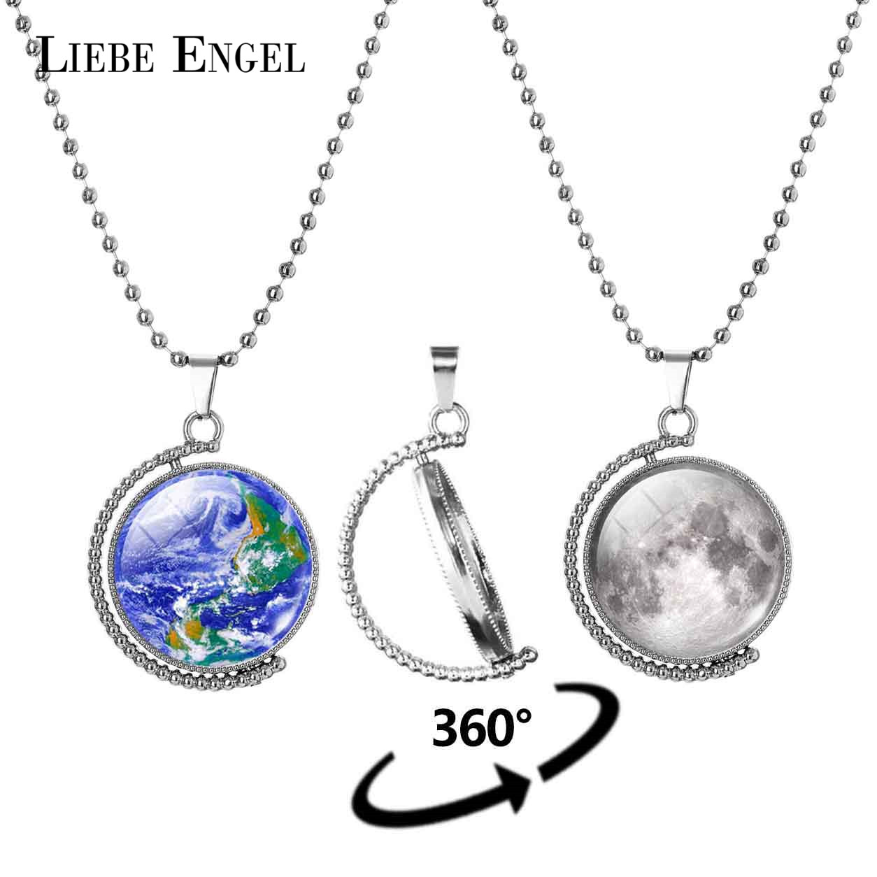 LIEBE ENGEL New Rotatable Double-sided Earth Moon Statement