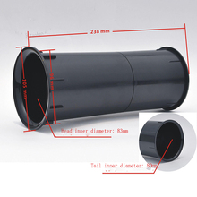 10pcs/lot Hole 100 MM thickened upscale 8 inch -12 speaker outlet inverted tube duct guide hole connector