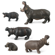 Animal Model 5 Styles Different Size  Kids Gift and Boutiques Decoraiton African tropics Hippopotamus Mammal Plastic Toy
