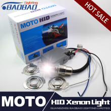цена на Free Shipping H6 motorcycle moto hid xenon kit bi motorcycle hid headlight universal motorbike hid lights ballast lamp 12V Auto