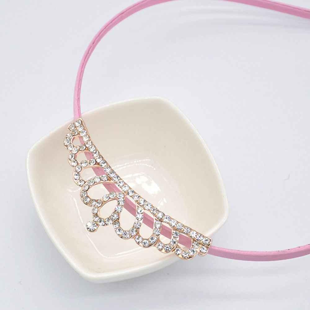 ベビーラインストーン王冠ヘッドバンド女の子プリンセスクリスタルクラウンダイヤモンドヘアバンド女性帽子子供ヘアバンドアクセサリー