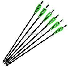"22 inch Aluminum Arrows 2219# Crossbow Bolts for Archery Hunting Outdoor Sports - Moon Nock Insert Broadhead 4"" TPU Vanes"