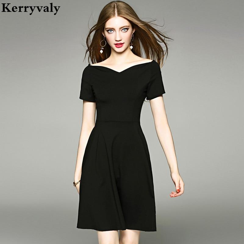 hepburn retro summer little black dress robe femme ete 2018 vestidos mujer women party dresses