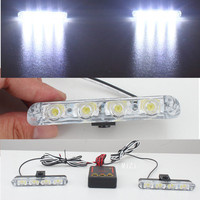 2x4 Led DC 12V Strobe Warning Light Car Truck Light Flashing Firemen Lights Ambulance Police Light