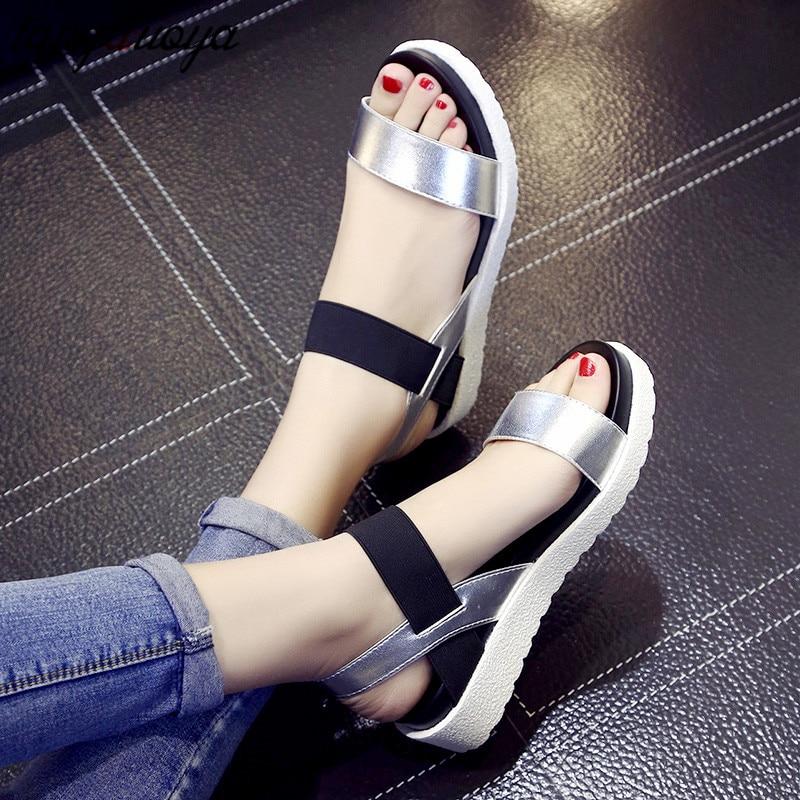 Summer Shoes Wedge-Sandals Platform Sandalias-De-Verano High-Heel Ladies Para Mujer Casual