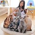 Creativo 3D de simulación Suave Felpa muñeca de juguete cat animal de peluche Cojín de decoración del hogar Regalos Para El Amigo Amante de los gatos Triver Juguete