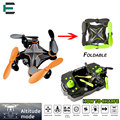 ET RC Drone Mini Luz LED Plegable 6 Axis Gyro mantenimiento de altitud sin cabeza rc quadcopter mini pocket flying orange/verde hengqi 901 H