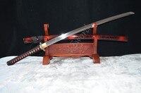 41 real samurai sword handmade katana sword japanese Gold plated dragon Tsuba 1060 forged steel Full Tang can cut bamboo tree