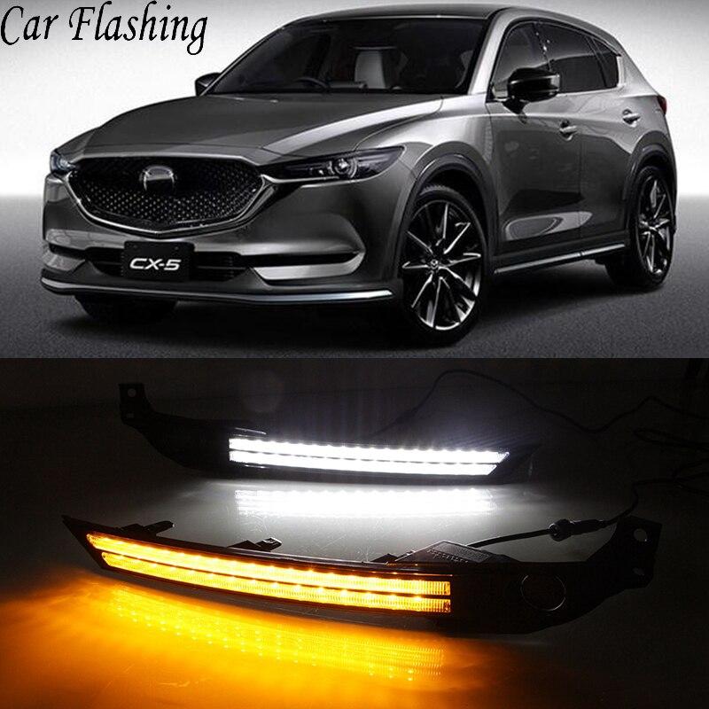 Car Flashing 2Pcs DRL 12V LED Daytime Running Light For