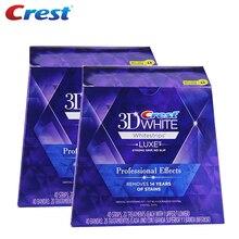 3D białe zęby Whitestrips Luxe profesjonalny efekt 40 zabiegów 2 pudełko oryginalna higiena jamy ustnej zęby wybielanie zębów paski