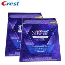 Tiras blanqueadoras dentales blancas 3D, efecto profesional Luxe, 40 tratamientos, 2 cajas, higiene Oral Original, tiras blanqueadoras dentales