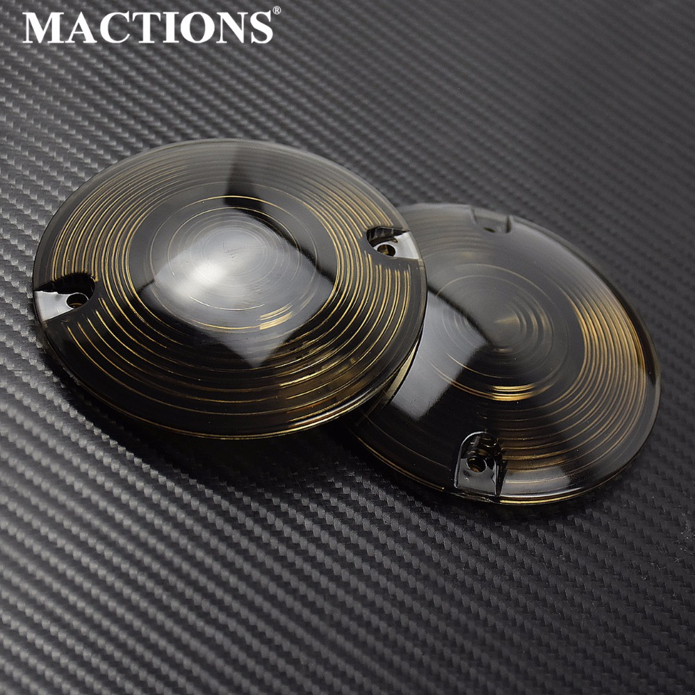 2pcs Motorcycle Turn Signal Light Lens Cover For Harley Touring Electra Glides Road King Ultra Glide Softail FLHR FLST 1986-2014