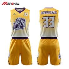 купить Customized Team Mens Basketball Shirts 4xl Jerseys Set Breathable Sublimation Printing Logo Name Design Basketball Uniform дешево