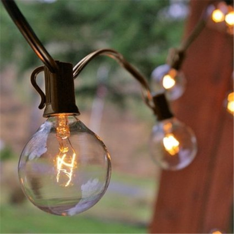 35X 10m Clear Globe G40 String Lights Set Bulbs Included Patio Lights U0026  Patio String Light