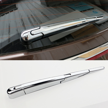 цены For Kia Sportage QL 2016 2017 Car Rear Window Wiper Cover Sticker Trim ABS Chrome Tail Windscreen Wipers exterior Decoration