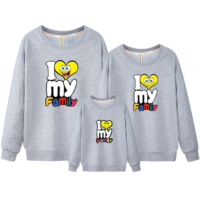 2018 herbst Stil Familie Spiel Kleidung Langarm Herz Drucken Frau Dad Kinder Junge Mädchen T-shirt Tops Outfit Passende Kleidung