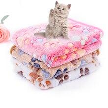 Теплое одеяло для собаки для питомца милая собака простыня для кошек Коралловый Флис щенок спальный коврик для кровати подушки для маленьких товары для животных, собак