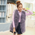 Hot Sale New 2016 Women Winter Encryption 100% Natural Ostrich Feathers Turkey Feather Fur Vest Vest Fur Coat Fur Coat