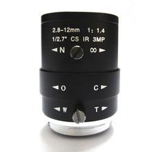 HD 3mp 2.8-12mm cctv lens CS Mount Manual Focal IR 1/2.7″ 1:1.4 F1.4 for IP Camera
