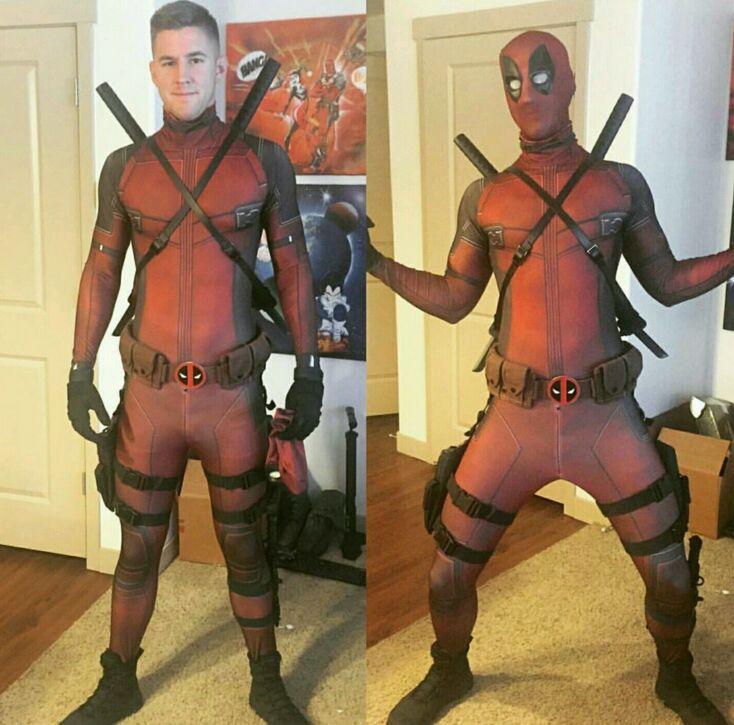 Deadpool Spandex Lycra adulte Zentai seconde peau Costume serré hommes une pièce corps complet Cosplay Costume pour Halloween