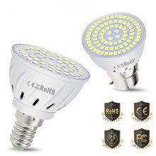 CanLing E14 220V Lamp E27 LED Spotlight GU10 LED Bulb 2835SMD MR16 Light Bulb B22 Chandelier High Brightness Energy Saving Lamp(China)